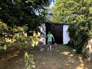 Fripp och Nisse på upptäcksfärd på gården